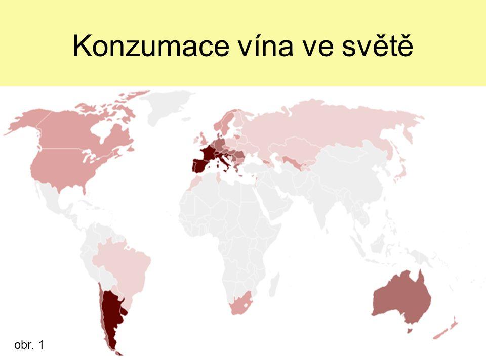 Konzumace vína ve světě obr. 1