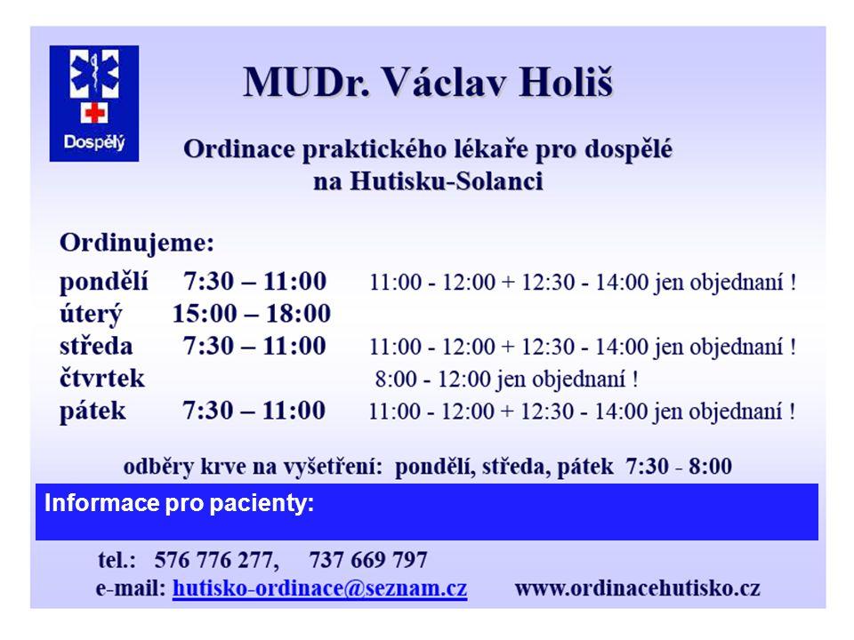 Informace pro pacienty: