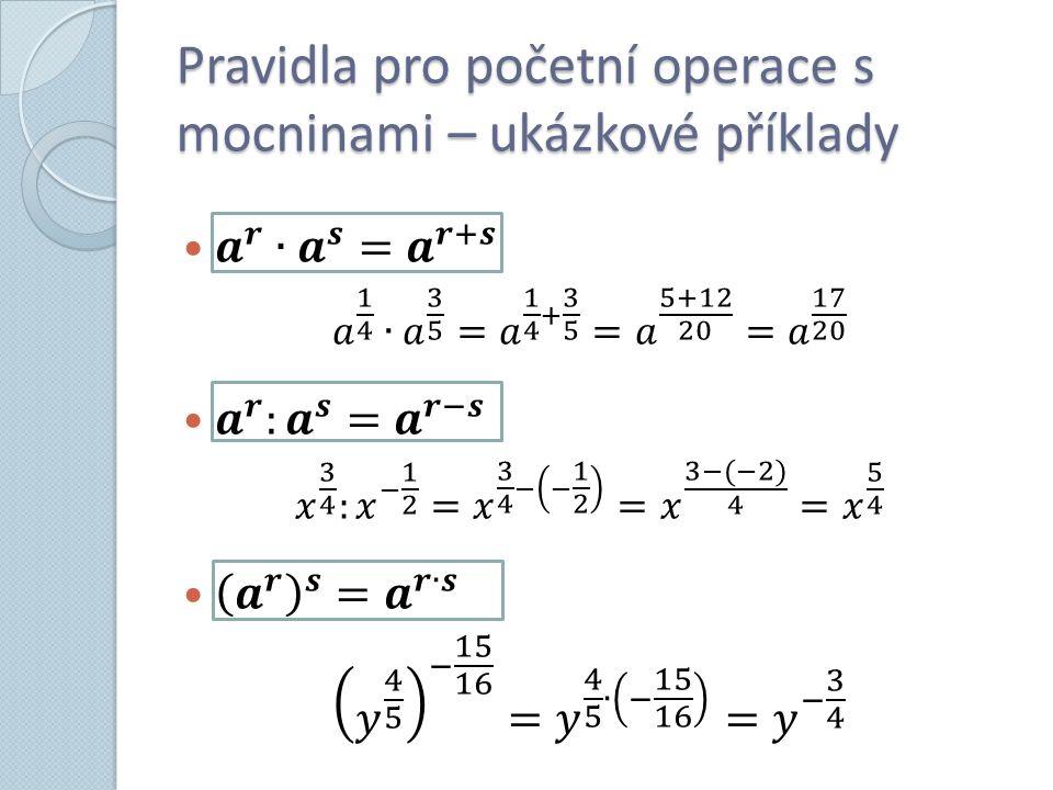 Příklad č. 1 Příklad č. 1 Vypočítejte: