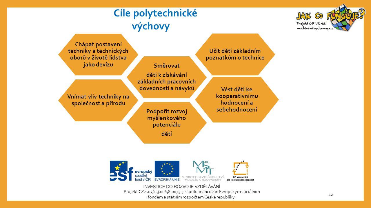Projekt CZ.1.07/1.3.00/48.0075 je spolufinancován Evropským sociálním fondem a státním rozpočtem České republiky. 12 Vnímat vliv techniky na společnos