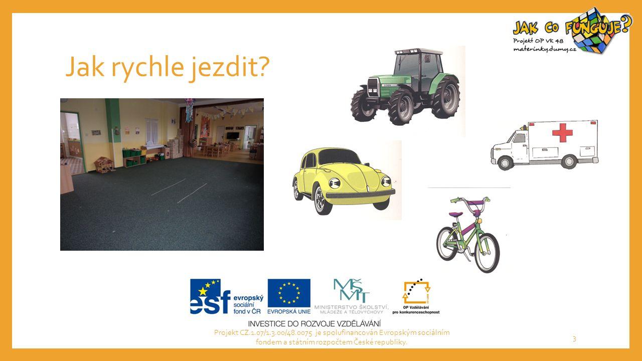 Jak rychle jezdit? Projekt CZ.1.07/1.3.00/48.0075 je spolufinancován Evropským sociálním fondem a státním rozpočtem České republiky. 3