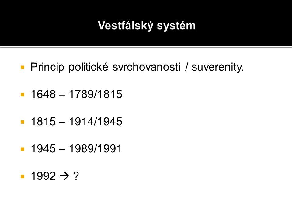  Princip politické svrchovanosti / suverenity.