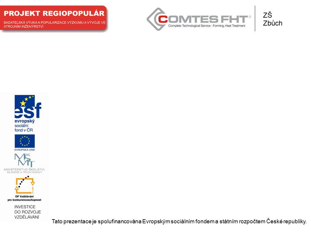 Tato prezentace je spolufinancována Evropským sociálním fondem a státním rozpočtem České republiky. ZŠ Zbůch