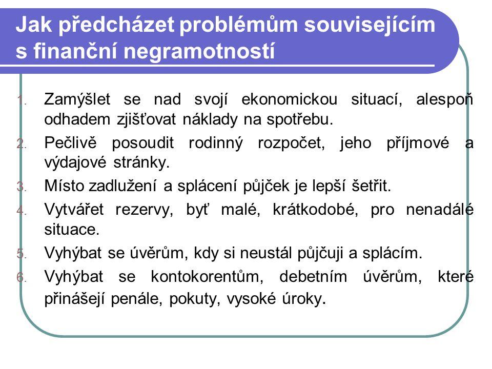 Jak předcházet problémům souvisejícím s finanční negramotností 1.