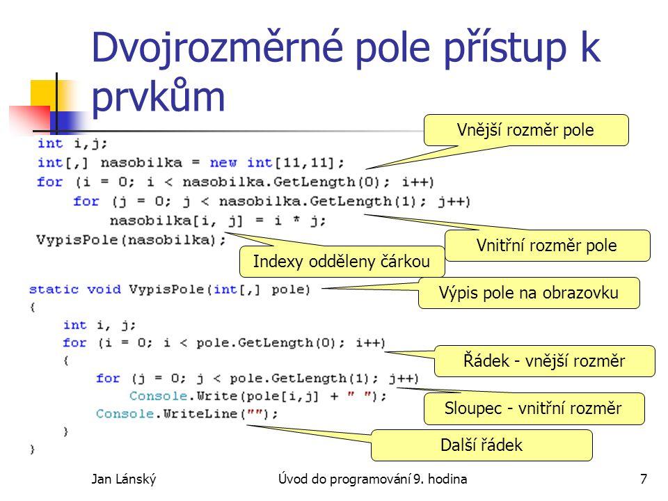 Jan LánskýÚvod do programování 9.