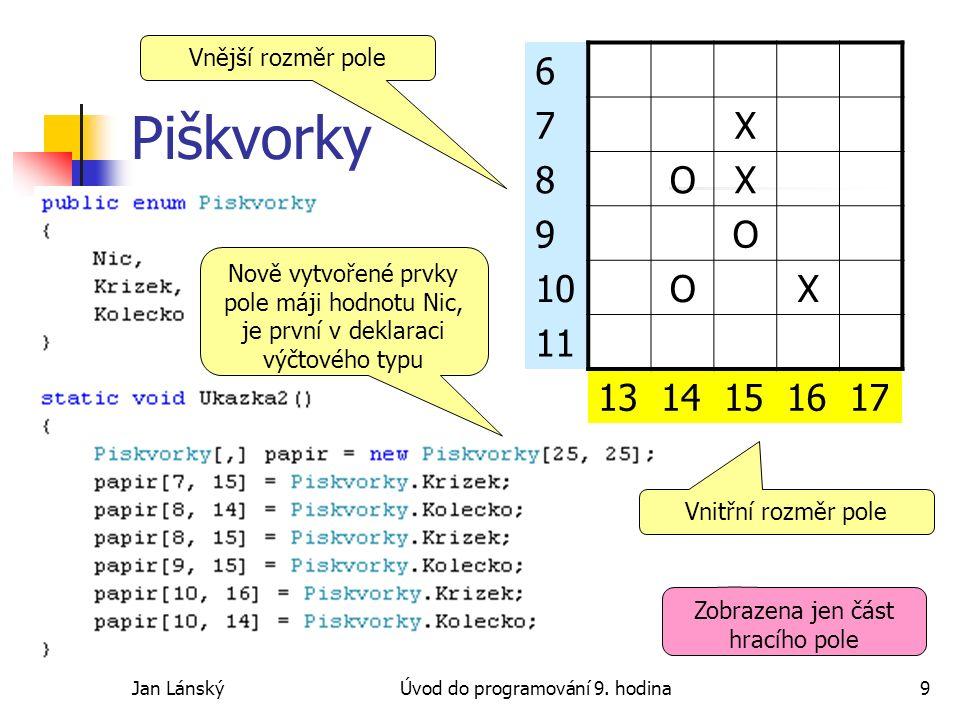 Jan LánskýÚvod do programování 9.hodina20 ASCII Art Jaký obrazec vytvoří .