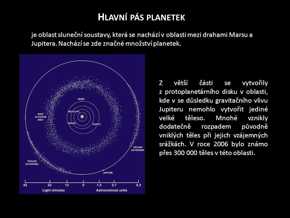 H LAVNÍ PÁS PLANETEK je oblast sluneční soustavy, která se nachází v oblasti mezi drahami Marsu a Jupitera. Nachází se zde značné množství planetek. Z