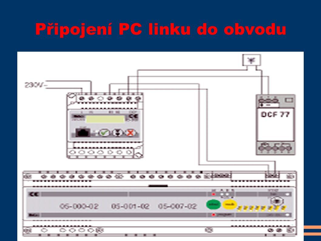 Připojení PC linku do obvodu