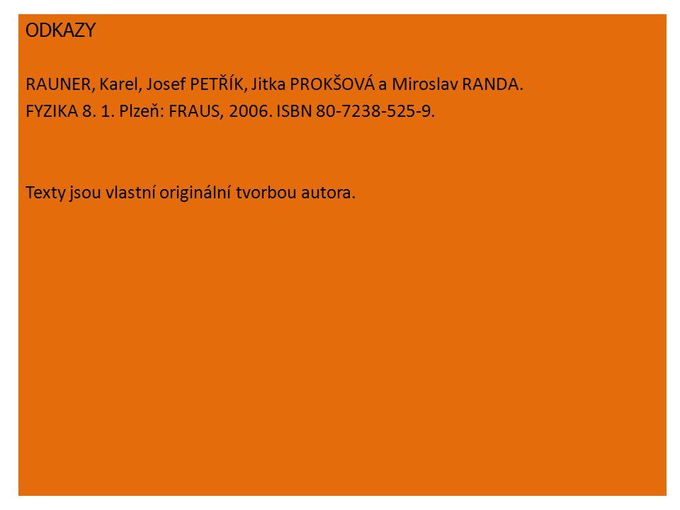 ODKAZY RAUNER, Karel, Josef PETŘÍK, Jitka PROKŠOVÁ a Miroslav RANDA.