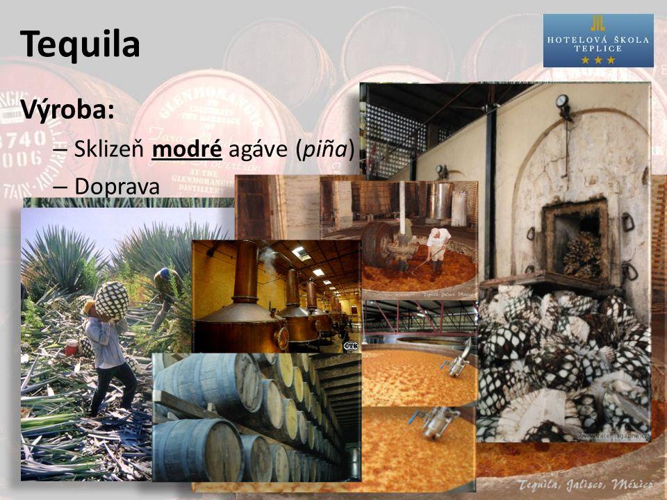 Tequila Servis: – teplota: – sklo: – doplněk: – MN např.: nechladit = 20°C typ shooter Margarita limetka a sůl pomeranč a skořice