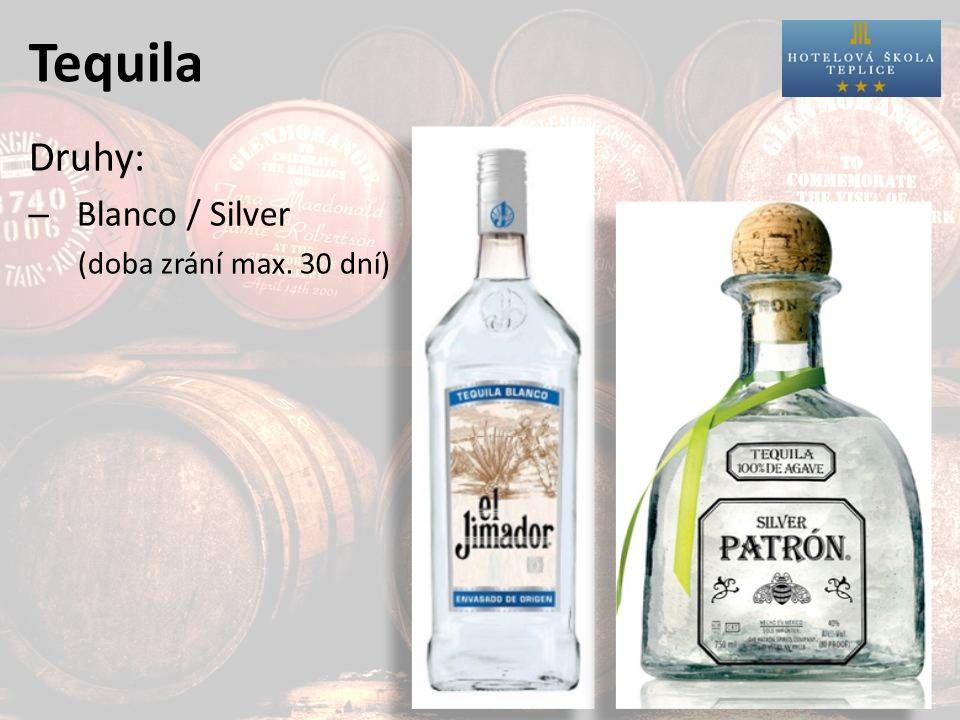 Tequila – Joven / Oro / Gold (doba zrání max. 30 dní, karamel max. 1% váhy)