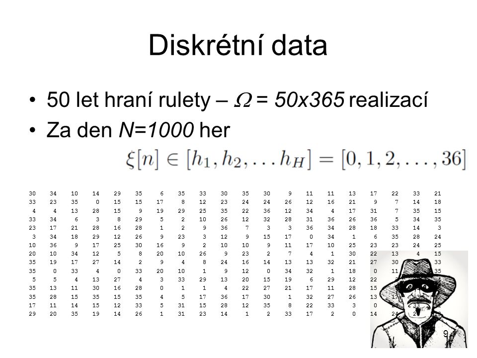Spojitá data  = 1068 realizací tečení vody kohoutkem Každá realizace má 20ms, F s =16kHz, takže N=320.