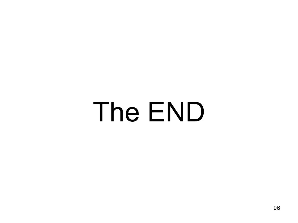 The END 96