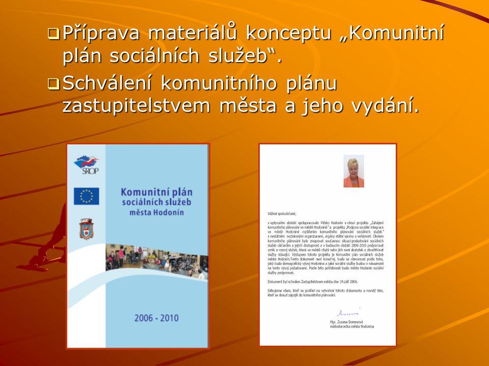 """ Příprava materiálů konceptu """"Komunitní plán sociálních služeb ."""