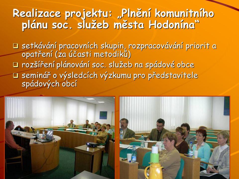 """Realizace projektu: """"Plnění komunitního plánu soc."""