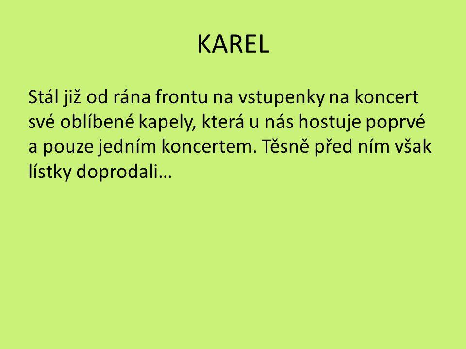 KAREL Stál již od rána frontu na vstupenky na koncert své oblíbené kapely, která u nás hostuje poprvé a pouze jedním koncertem.