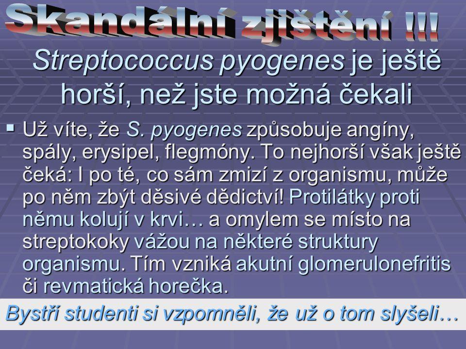 Streptococcus pyogenes je ještě horší, než jste možná čekali  Už víte, že S.