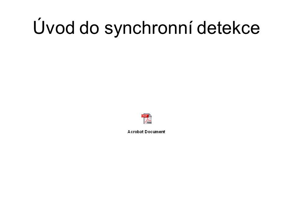 Úvod do synchronní detekce