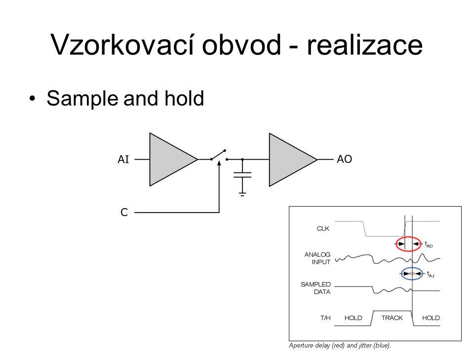 Vzorkovací obvod - realizace Sample and hold