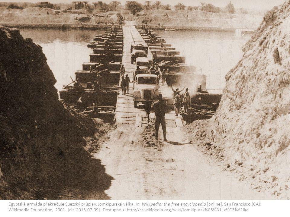 Egyptská armáda překračuje Suezský průplav, Jomkipurská válka.