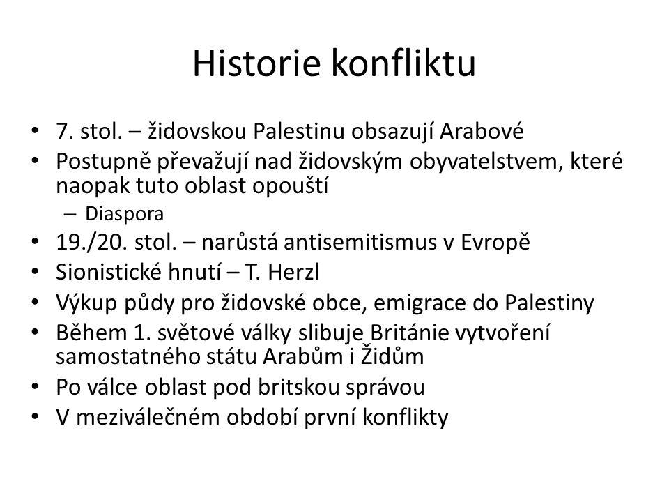 Historie konfliktu 7. stol.