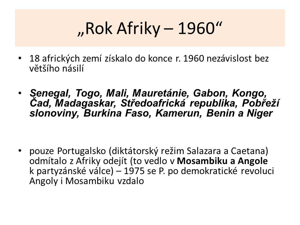 """""""Rok Afriky – 1960 18 afrických zemí získalo do konce r."""