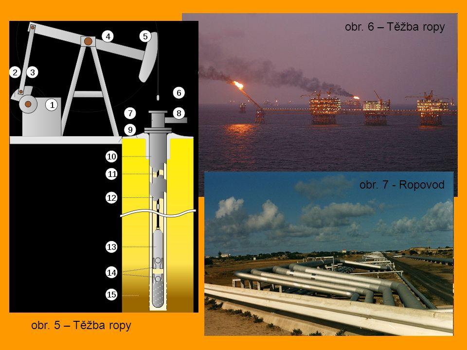 obr. 5 – Těžba ropy obr. 6 – Těžba ropy obr. 7 - Ropovod