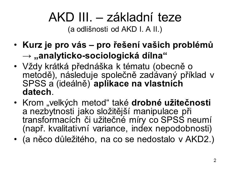AKD III. – základní teze (a odlišnosti od AKD I.