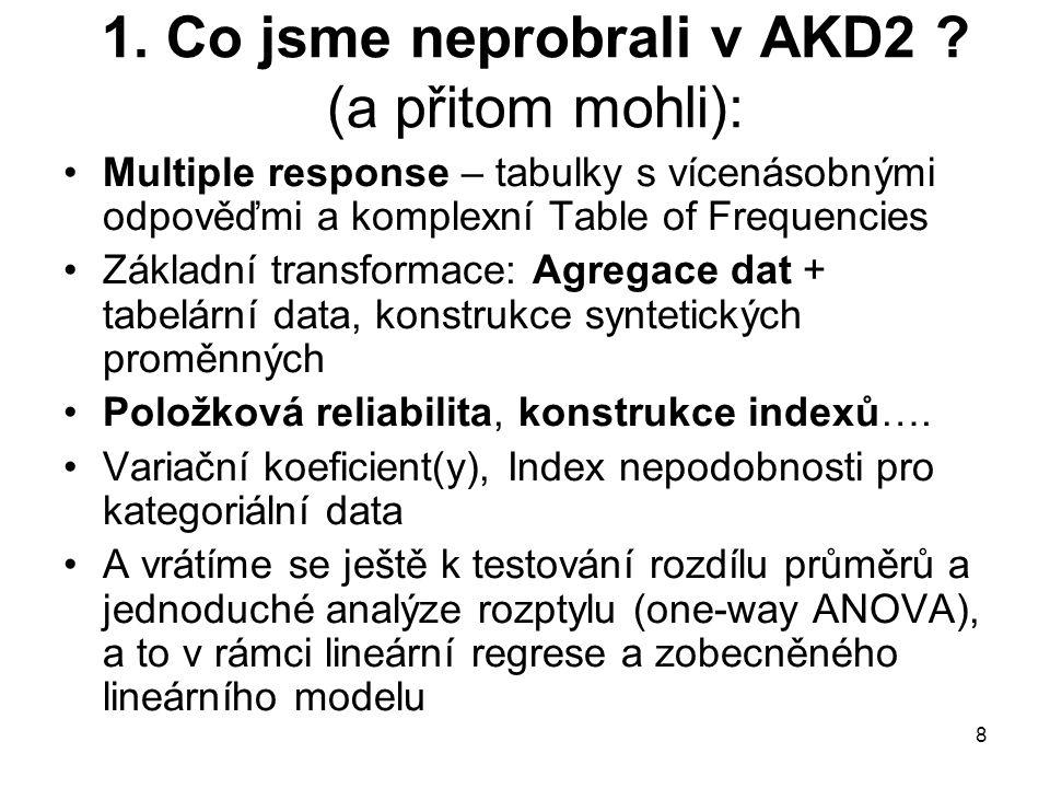 1. Co jsme neprobrali v AKD2 .