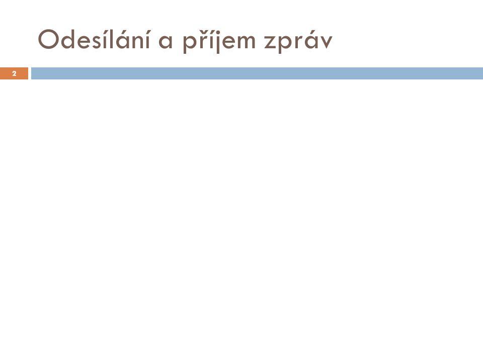Odesílání a příjem zpráv 2