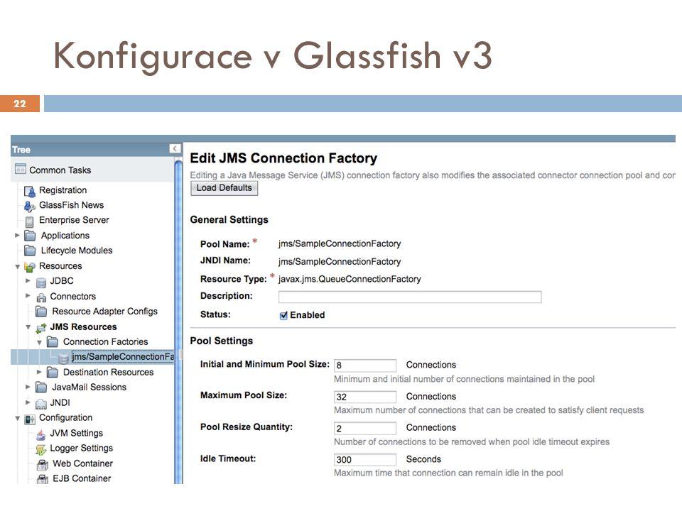 Konfigurace v Glassfish v3 22
