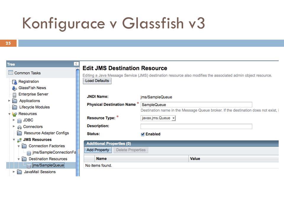 Konfigurace v Glassfish v3 25