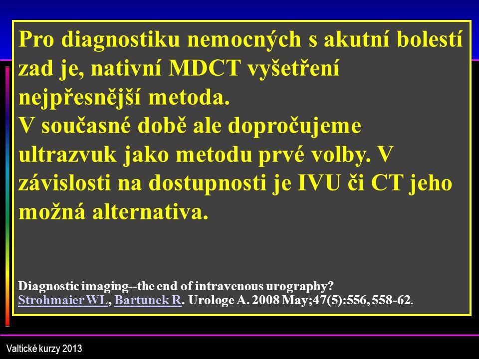 Liuteratura – IVU je mrtvá Valtické kurzy 2013 Intravenous urography is died.
