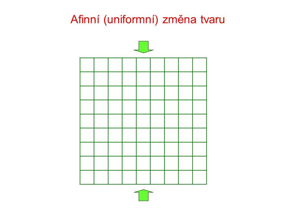 Afinní (uniformní) změna tvaru