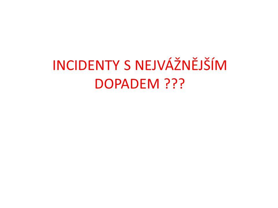 INCIDENTY S NEJVÁŽNĚJŠÍM DOPADEM