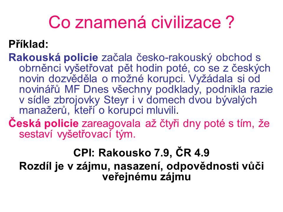 Co znamená civilizace .