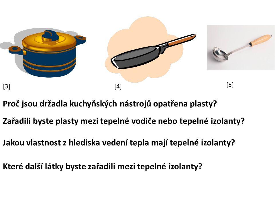 Proč jsou držadla kuchyňských nástrojů opatřena plasty.