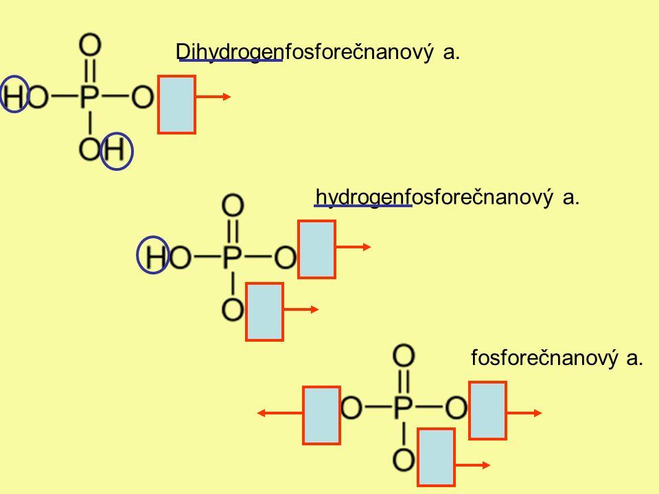 Dihydrogenfosforečnanový a. hydrogenfosforečnanový a. fosforečnanový a.