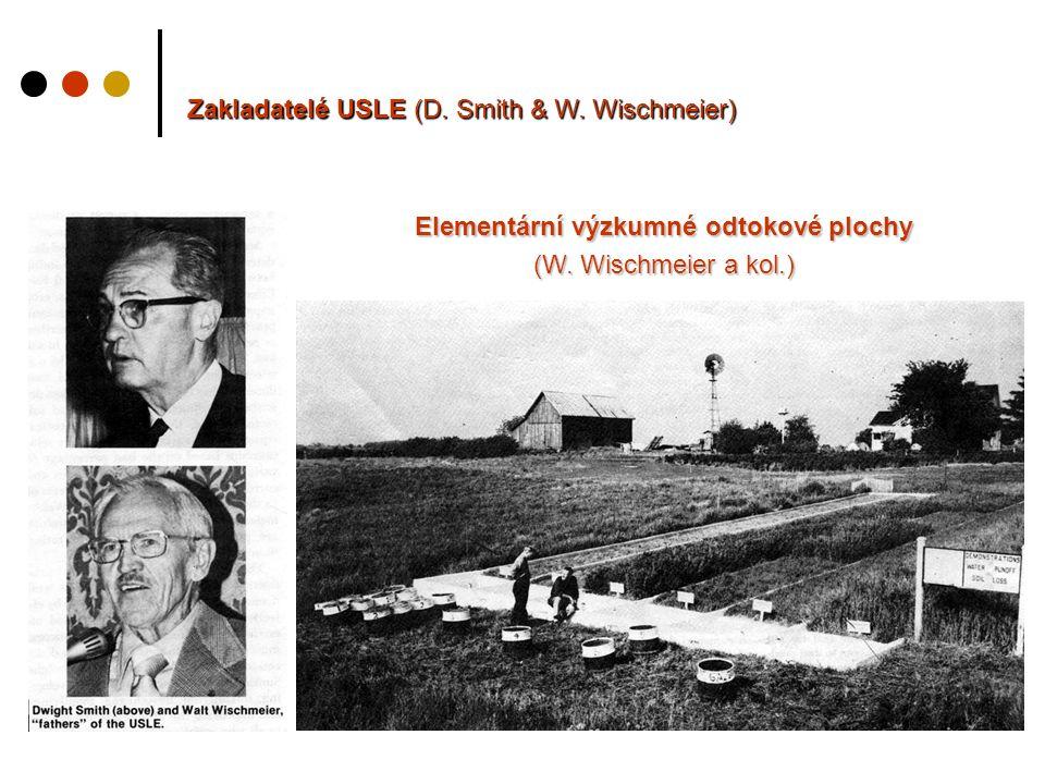 Zakladatelé USLE (D. Smith & W. Wischmeier) Elementární výzkumné odtokové plochy (W.