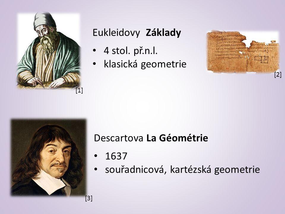 Eukleidovy Základy 4 stol. př.n.l.