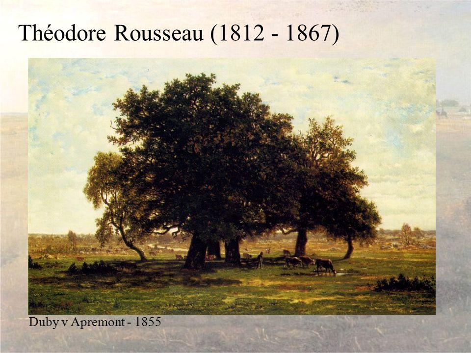 Théodore Rousseau (1812 - 1867) Duby v Apremont - 1855