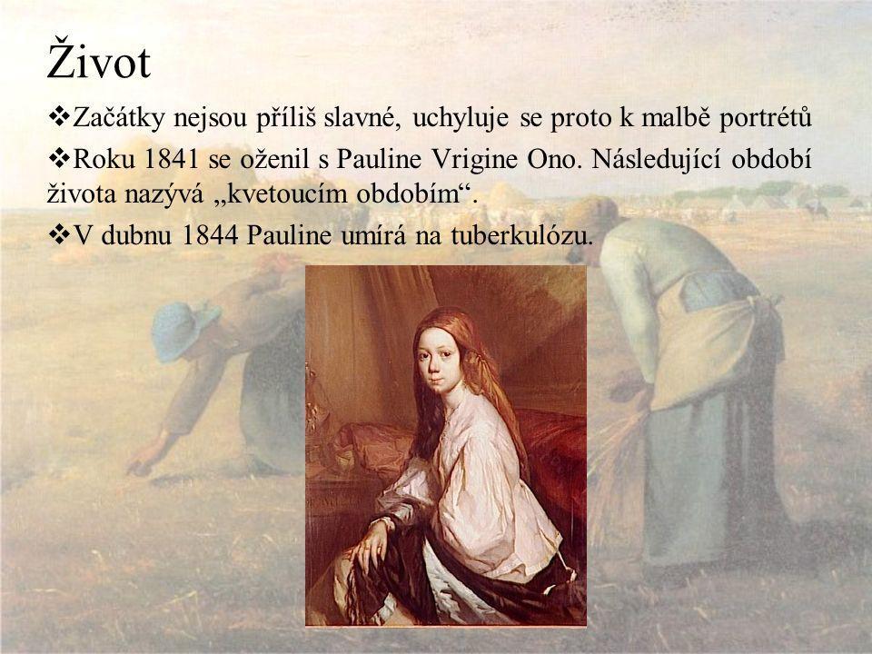 Život  Začátky nejsou příliš slavné, uchyluje se proto k malbě portrétů  Roku 1841 se oženil s Pauline Vrigine Ono.