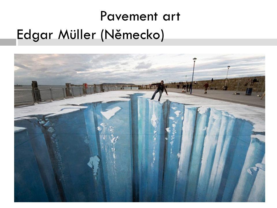 Pavement art Edgar Müller (Německo)