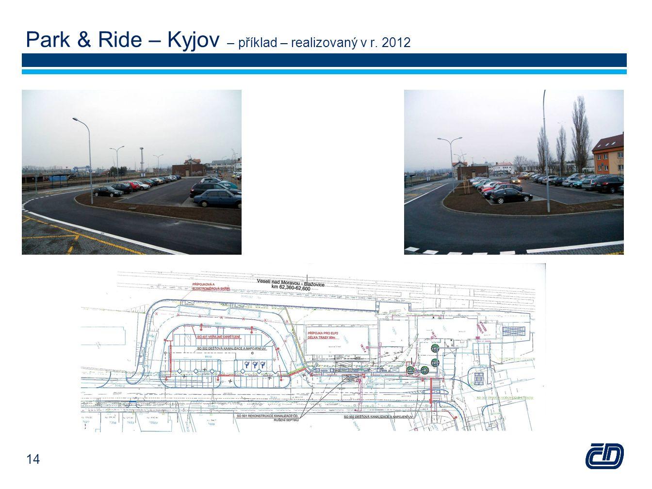 Park & Ride – Kyjov – příklad – realizovaný v r. 2012 14