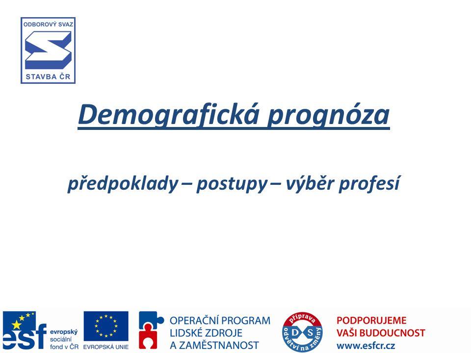 Demografická prognóza předpoklady – postupy – výběr profesí