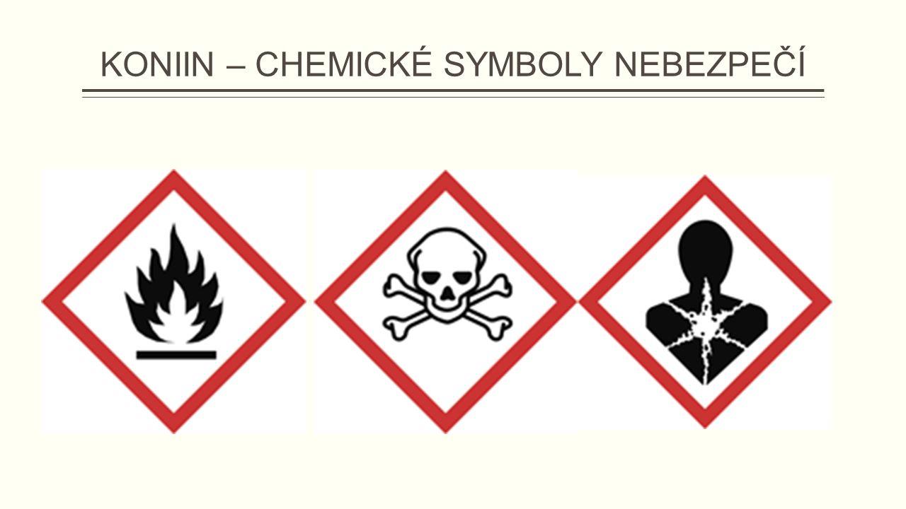 KONIIN – CHEMICKÉ SYMBOLY NEBEZPEČÍ
