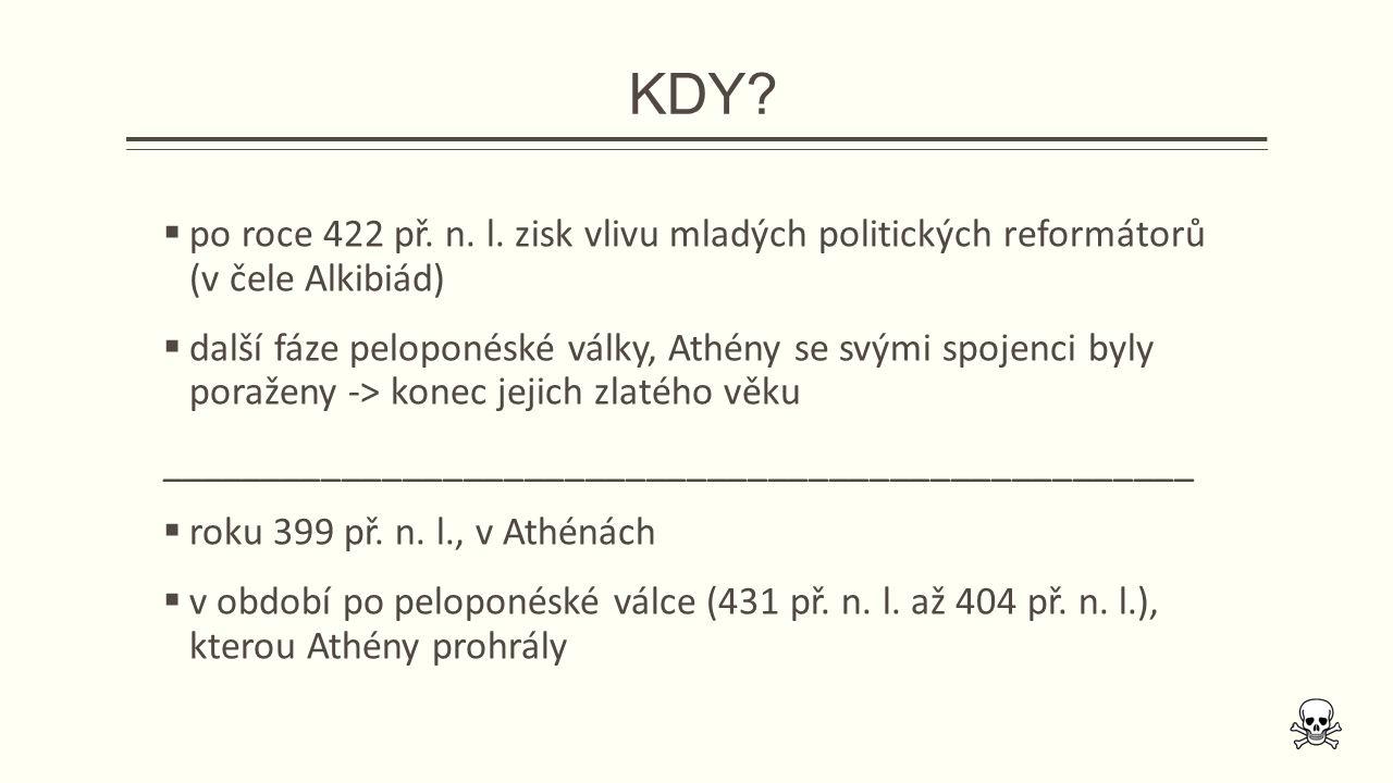 KDY.  po roce 422 př. n. l.