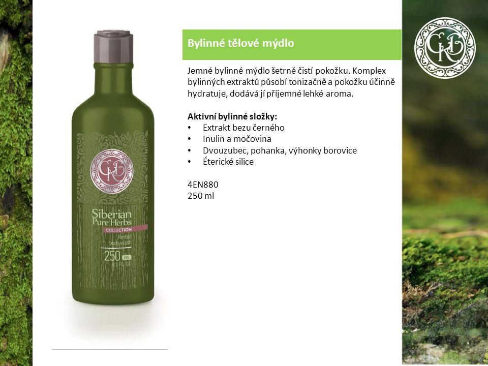 Bylinné tělové mýdlo Jemné bylinné mýdlo šetrně čistí pokožku.
