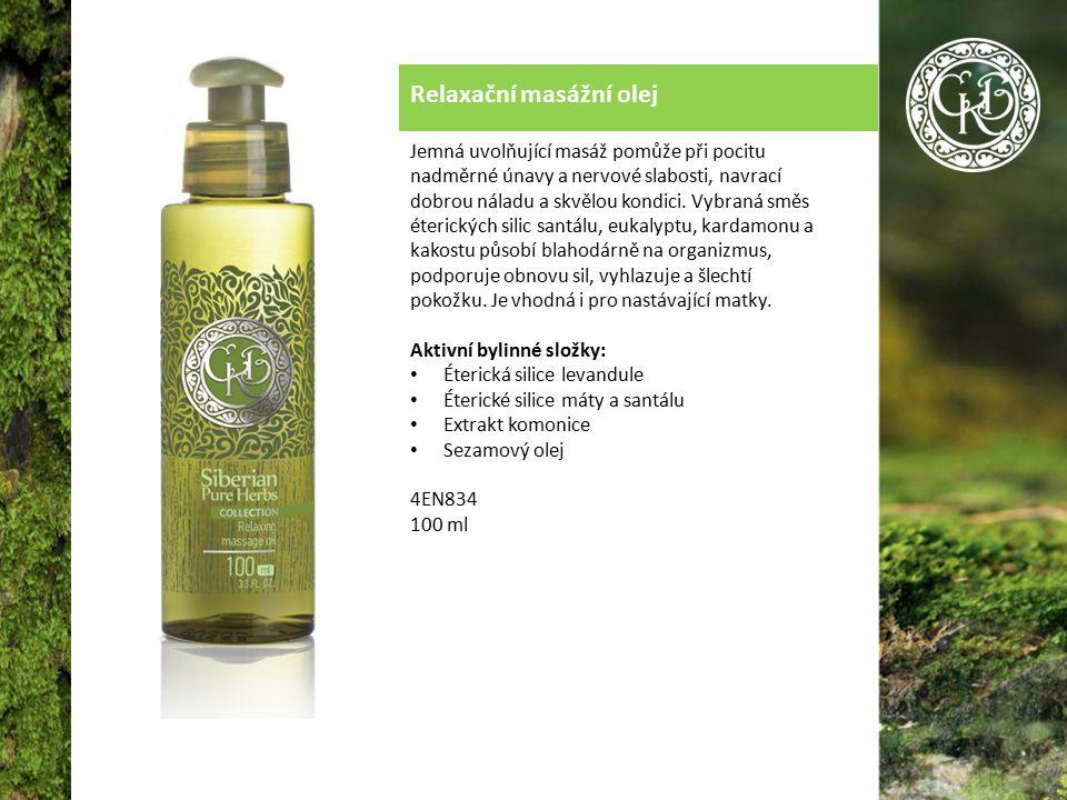 Relaxační masážní olej Jemná uvolňující masáž pomůže při pocitu nadměrné únavy a nervové slabosti, navrací dobrou náladu a skvělou kondici.