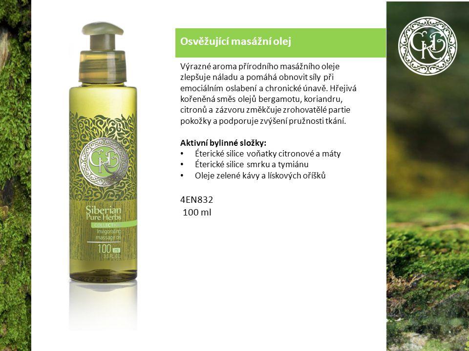Osvěžující masážní olej Výrazné aroma přírodního masážního oleje zlepšuje náladu a pomáhá obnovit síly při emociálním oslabení a chronické únavě.